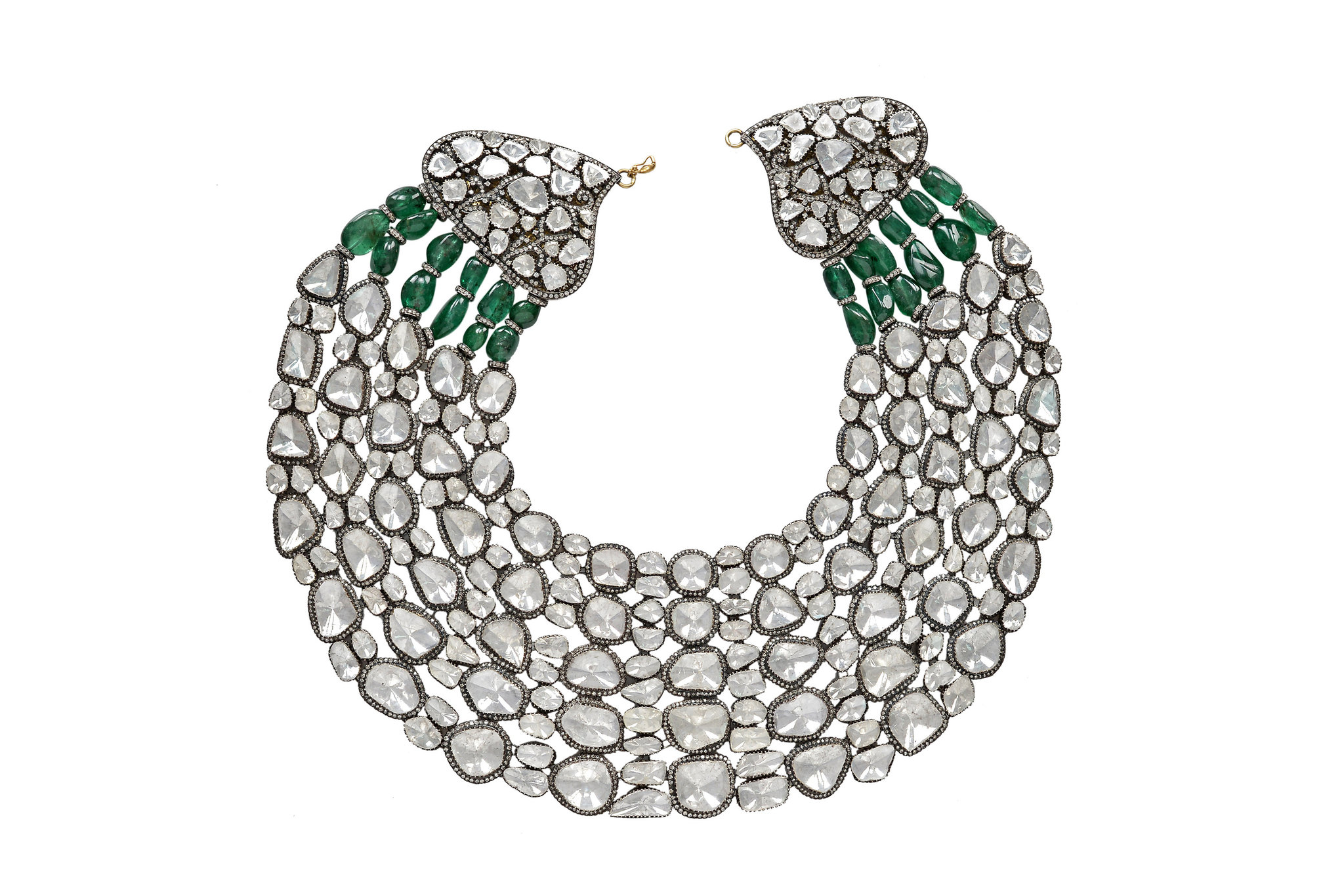 The Maharani: A Diamond and Gem Studded Necklace for The Ages