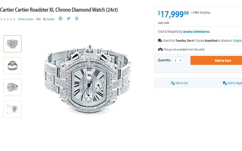 Cartier Says Walmart Is Not Authorized to Sell $18,000 Dollar Chrono